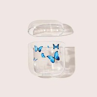 Fashion Casual Butterfly Clear Airpods Case