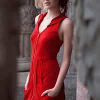 REDMarie Claire Dress As seen on Project Runway 4 by yellowcake