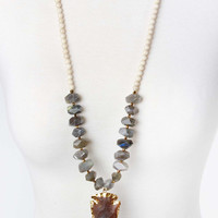 The Natalie Necklace - Grey