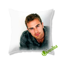 Theo James A Square Pillow Cover