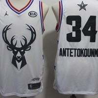 Antetokounmpo 2019 NBA All Star Jersey White