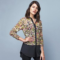 Abstract Button-Up Tunic in Misses