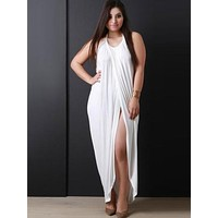 White Sleeveless Maxi Dress