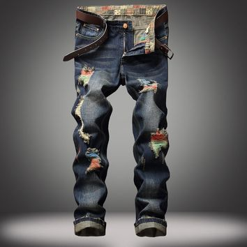 Jeans Strong Character Ripped Holes Brush [10366811203]