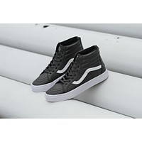 Vans SK8-HI PRO Black High Top Men Flats Shoes Canvas Sneakers Women Sport Shoes