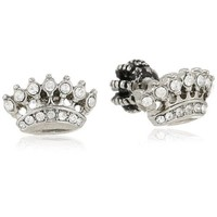"""Juicy Couture """"Replenishment"""" Crown Stud Earrings"""
