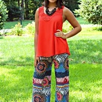 What About Now Palazzo Pants Red