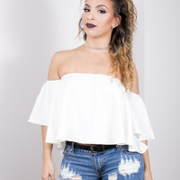 Off the Shoulder Croptop