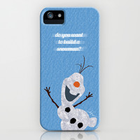 Olaf // Frozen iPhone & iPod Case by Lukas Emory