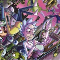 Rick and Morty Cartoon Poster 24x36