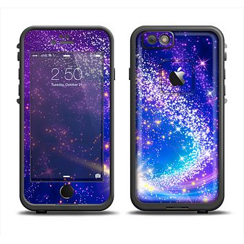The Glowing Pink & Blue Comet Apple iPhone 6 LifeProof Fre Case Skin Set