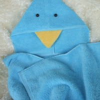 Children's Bluebird Towel for Bath or Pool - Handmade Crafts by TwoChicklets
