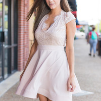A Touch Of Elegance Dress, Natural