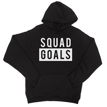 365 Printing Squad Goals Womens Hooded Sweatshirt Workout Motivational Gym Gift