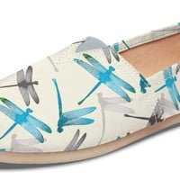 Dragonfly Pattern Casual Shoes