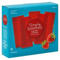 Strawberry Fruit Strips 25ct - Simply Balanced™