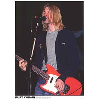 Nirvana Kurt Cobain New York 1993 Poster 24x33