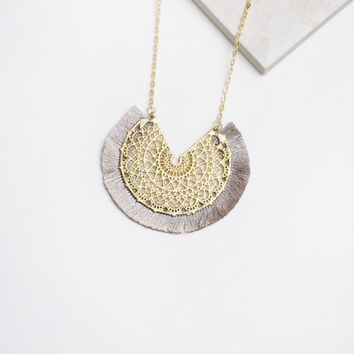 Be True Necklace in Grey