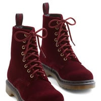 Show Off Your Strut Boot in Burgundy | Mod Retro Vintage Boots | ModCloth.com