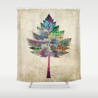 Like a Tree 2. version Shower Curtain by Klara Acel