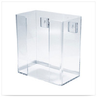 9 x 4 3/4 x 9 1/2 Clear Acrylic Wall Mounted Guest Towel Holder 1 Ct