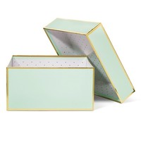 Sugar Paper Mint and Gold Gift Box - Small