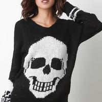 Skull Head Knitted Sweater Top