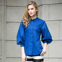Veri Gude Women's Vintage Style Lantern Sleeve Blouse Cotton Fashion Shirt HJC-C8312