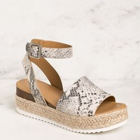 Weekend Snakeskin Platform Sandals