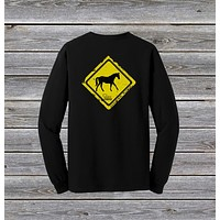 Horse Crossing Series Long Sleeve Tee