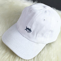 Womens Girl Embroidery Fish Baseball Cap Unique Hat +Free Gift Summer Choker
