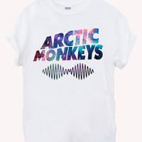 Arctic Monkeys Premium Tour Logo  music Screenprint 100% soft cotton t-shirt For girl and men Unisex