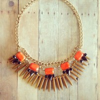 Dhalia Necklace - Brown