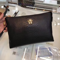 VERSACE MEN'S 2018 NEW STYLE LEATHER HAND BAG