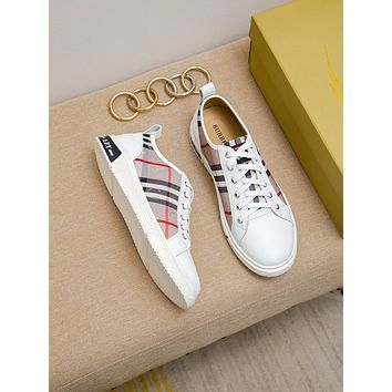 Burberry Men Fashion Boots fashionable Casual leather Breathable Sneakers Running Shoes06140cx