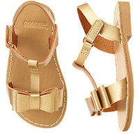 Metallic Bow Sandals