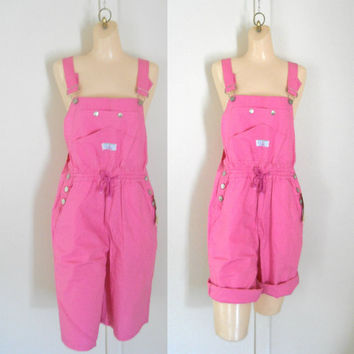 Womens Overalls Shorts Overall Shortalls From Thevillevintage On