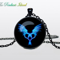 DRAGON HEART PENDANT heart from dragon pendant valentine day gift dragon jewelry heart pendant for men for her for him black purple