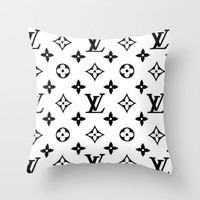 fancy love Throw Pillow by Pink Berry Patterns