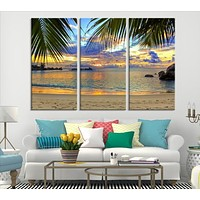 Sea View From the Beach Canvas Print