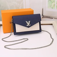 LV Louis Vuitton LEATHER Pochette Mylockme INCLINED CHAIN SHOULDER BAG