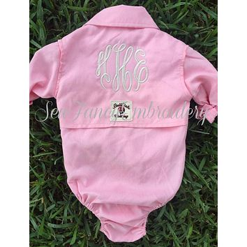 Baby Fishing Onesuit Monogrammed