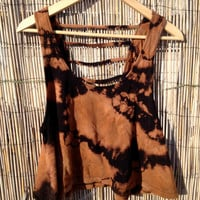 Crop Top Tank Tie Dyed Boho Navajo Hippie M by UnraveledClothing