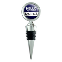 Darrell Hello My Name Is Wine Bottle Stopper