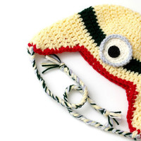 Minion Crochet Baby Hat for boys or girls, Crochet Despicable Me Hat