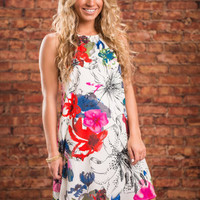 Eyes On You Floral Dress, Ivory