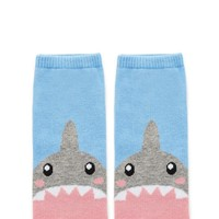 Shark Jaws Print Ankle Socks