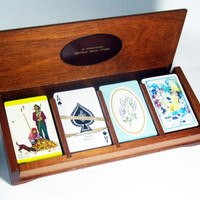 Playing Card Box, Drug Store Chain Customer Premium, Mid-Century, Vintage, Games, Home Decor