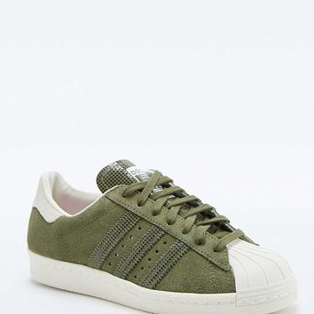 adidas Originals Khaki Suede Superstar Trainers - Urban Outfitters