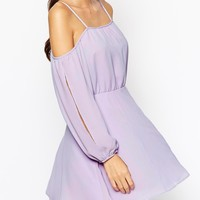 ASOS PETITE Dress WIth Cold Shoulder And Split Sleeve